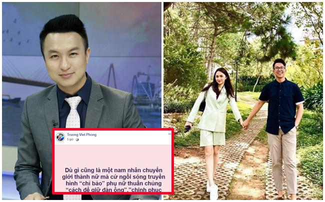 """Vừa có chút tình yêu, Hương Giang lại bị MC VTV """"đá xéo"""": """"Chuyển giới cũng đòi chỉ bảo phụ nữ"""""""