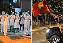 Bệnh viện và các tuyến đường ở Đà Nẵng dỡ bỏ cách ly, người dân và y bác sĩ vỗ tay hát vang