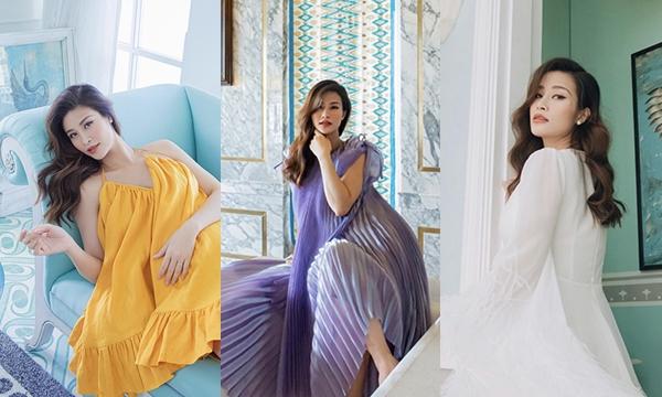 Bầu bí vượt mặt mà bắt trend vẫn đỉnh như Đông Nhi với loạt váy 7 sắc cầu vồng