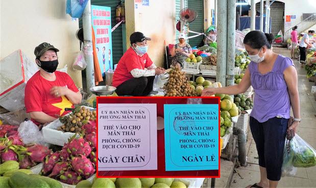 Đà Nẵng chính thức phát thẻ đi chợ từ ngày mai, mỗi gia đình 3 ngày được đi chợ 1 lần