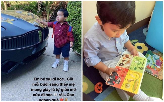 Phạm Hương lại gây khó hiểu khi khoe ảnh cho con trai đi học giữa lúc dịch Covid bùng phát
