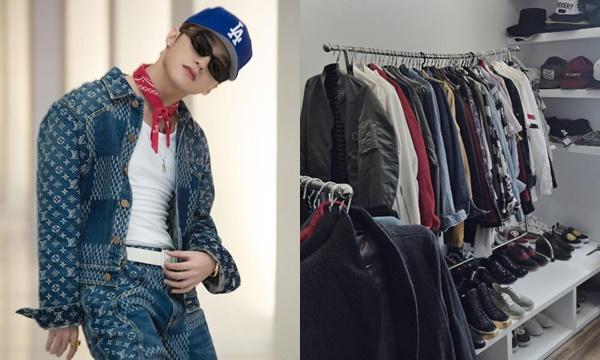 Không chỉ H'Hen Niê, thu nhập khủng như Sơn Tùng cũng có sở thích treo quần áo trên giá thay vì để trong tủ thế này