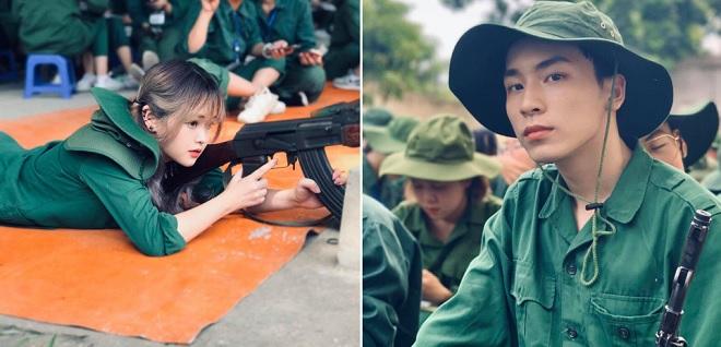 Dàn trai xinh gái đẹp Đại học Hà Nội chứng minh dù phơi nắng học quân sự thì nhan sắc vẫn không lụi tàn