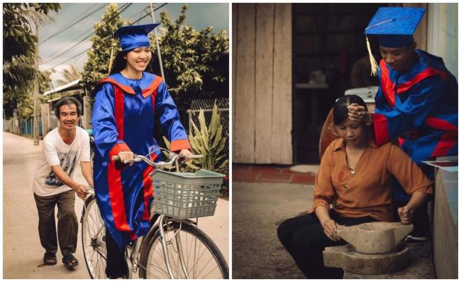 """Thầy trò Tiền Giang tạo nên bộ ảnh kỷ yếu có ý nghĩa đặc biệt: """"Mỗi mùa thi đến, cha mẹ chính là người lo cho con cái họ nhất"""""""