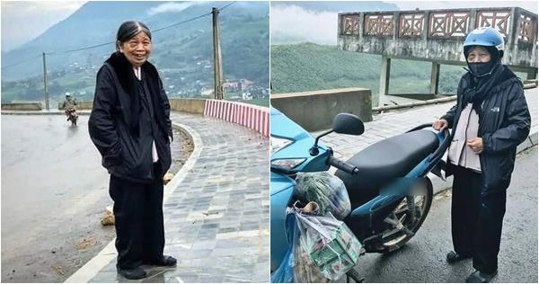 Bà cụ 90 tuổi di chuyển gần 200km với quãng đường từ Yên Bái đến Sa Pa bằng xe máy vì đam mê du lịch