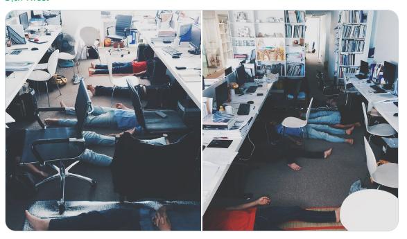 """""""Chui đầu vào gầm bàn""""  - phong cách ngủ đậm chất văn phòng Việt khiến anh chàng Nhật trầm trồ"""