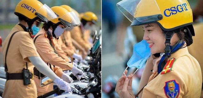 """Đội nữ CSGT dẫn đoàn đầu tiên của TP HCM ra mắt khiến dân tình trầm trồ: """"Nhìn thôi đã yêu rồi!"""""""