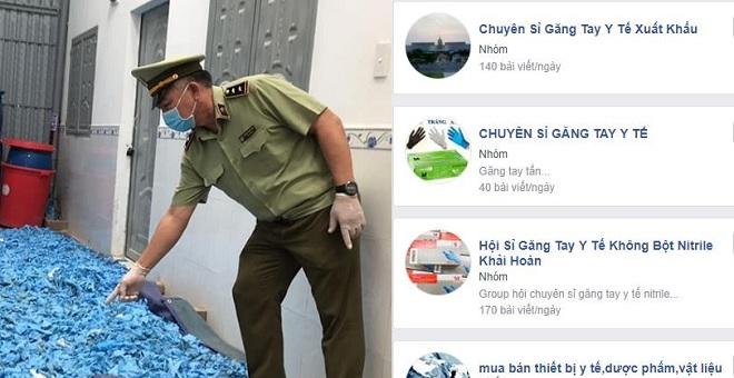 """Hàng chục tấn găng tay y tế đã qua sử dụng bị bắt giữ, trên mạng tràn lan các nhóm """"chuyên sỉ"""""""