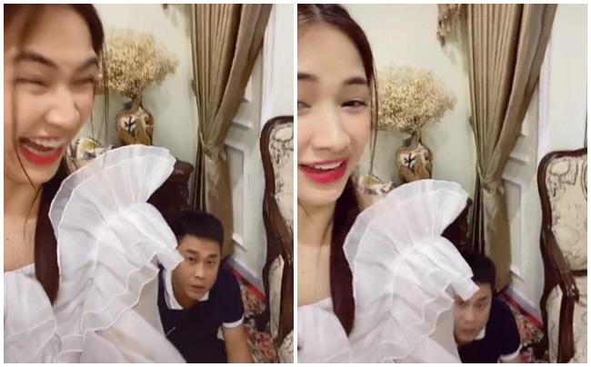 """Vừa để lộ vụ có con, Hòa Minzy lại bị chê thánh vô duyên khi tung clip giả """"xì hơi"""" troll bạn trai thiếu gia"""