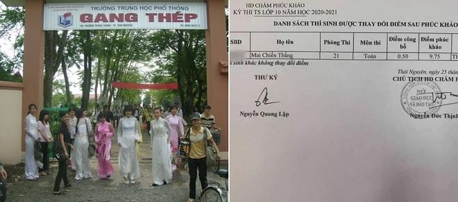 Nam sinh Thái Nguyên gây sốc với điểm phúc khảo môn Toán từ 0,5 thành 9,75 học rất tốt môn này