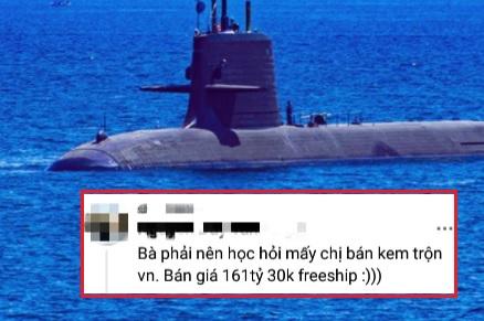 """Rao bán tàu ngầm giá 161 tỷ nhưng vẫn đòi 30k phí ship, shop online bị nhắc nhẹ: """"Nên học tập mấy chị bán kem trộn"""""""