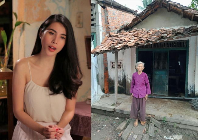"""Chi tiền túi để xây nhà cho người già, Thủy Tiên vẫn bị chỉ trích: """"Có tâm xây nhà mà không xài tôn lạnh?"""""""