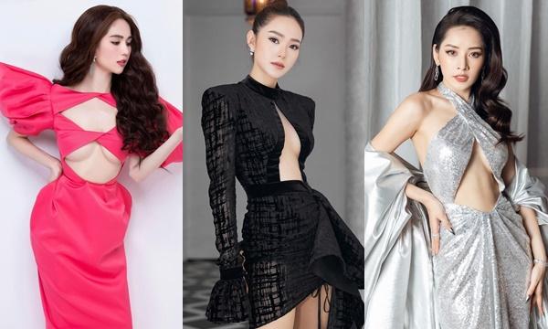 Muôn kiểu váy khoe đôi gò bồng đào đầy tinh tế và độc đáo của các mỹ nhân Việt