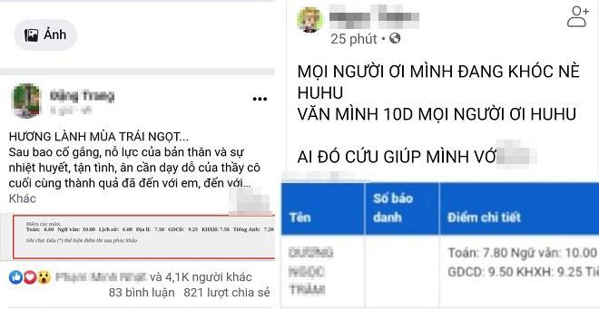 """Điểm 10 môn Văn tốt nghiệp THPT: Sau nữ sinh Nam Định, nữ sinh An Giang được dân mạng """"đồn đoán"""""""