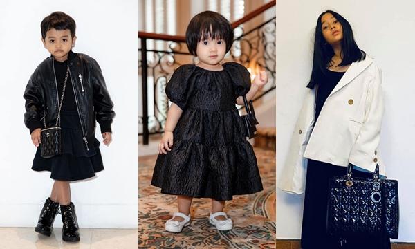 """""""Con gái cưng"""" giới showbiz đắp đồ hiệu xa xỉ chẳng khác fashionista ngay từ nhỏ"""