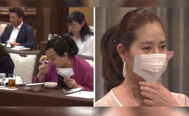 Nhật Bản ra mắt khẩu trang cầm tay giúp thực khách vừa ăn uống vừa yên tâm trò chuyện