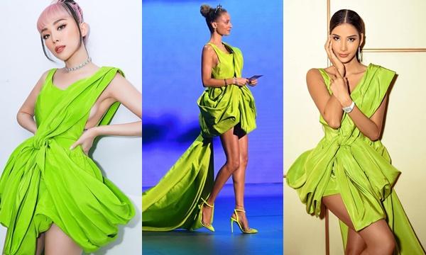 Từng được gần chục mỹ nhân Việt diện trước đó nhưng chiếc váy khi lên thảm đỏ Hollywood vẫn mang một vẻ đẹp khác biệt
