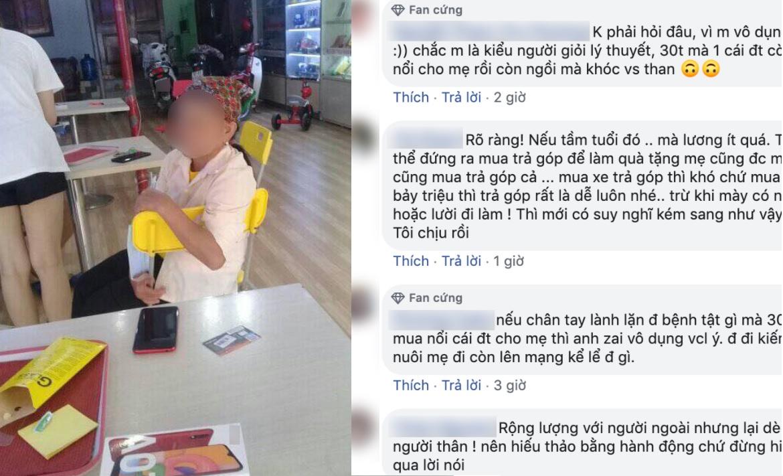 Anh chàng 30 tuổi không mua nổi cho mẹ chiếc điện thoại: Đáng trách hay đáng thương?