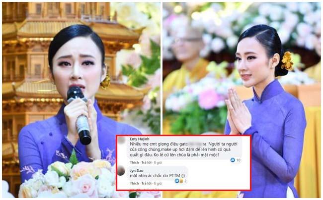 Đẹp thoát tục trong lễ Vu Lan, Angela Phương Trinh vẫn bị chê vì trang điểm đậm lên chùa