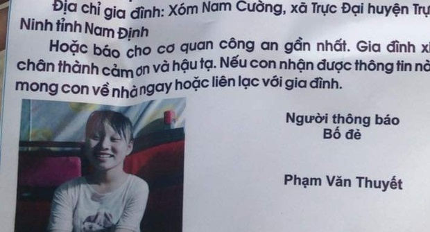 Thêm một người cha cầu cứu cộng đồng mạng giúp đỡ tìm con gái 14 tuổi mất tích bí ẩn