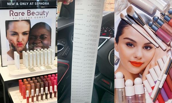 Fans hâm mộ đổ xô mua bill dài cả mét với dòng mỹ phẩm do Selena Gomez sáng lập
