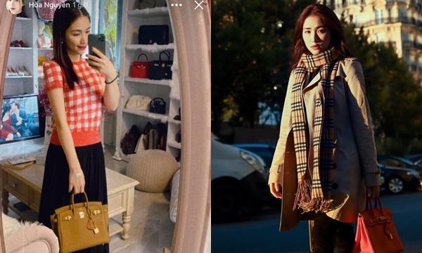 """Từng phải bán túi vì tiếc tiền, Hòa Minzy lại """"đâu đóng đấy"""" tậu hẳn 3 chiếc túi 3 phiên bản màu"""