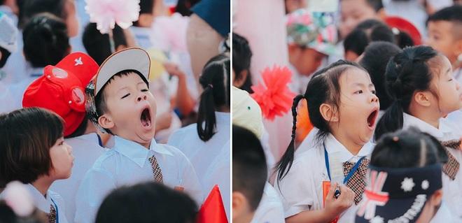 """Sự thật về chùm ảnh học sinh tiểu học ngáp ngắn ngáp dài trong lễ khai giảng gây """"bão mạng"""""""