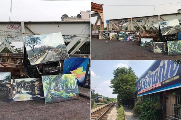 """Dân tình truy tìm địa chỉ chủ """"shop"""" tranh dạo trên cầu Long Biên để ủng hộ họa sĩ nghèo đam mê nghệ thuật"""
