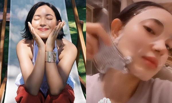 """Xài cây lăn massage mặt của """"giới nhà giàu"""" hỏi sao Châu Bùi mặt """"búng da sữa"""" như em bé"""