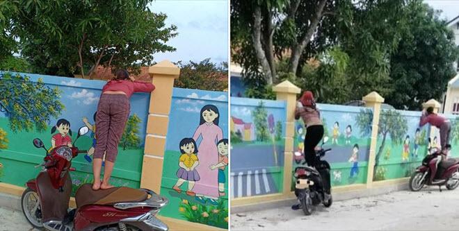 Dễ thương hình ảnh mẹ nhấp nhổm trên yên xe ngó vào trường mầm non: Cha mẹ luôn lo nghĩ cho chúng ta như thế!