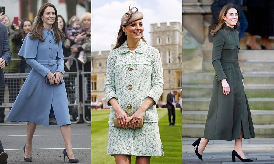 """9 lần Kate Middleton diện áo khoác dài là 9 lần sử dụng """"vũ khí bí mật"""" đốn gục công chúng, thần thái ngút ngàn, cực kỳ tinh tế"""
