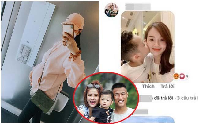 """Khoe bụng bầu 7 tháng, Kỳ Hân bị anti-fan """"cà khịa"""" bằng ảnh vợ cũ, con riêng của Mạc Hồng Quân"""