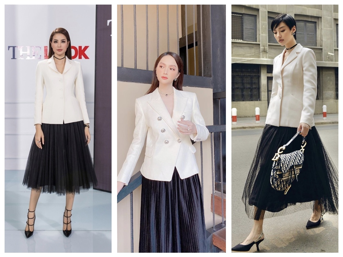 Blazer mix cùng váy xếp ly combo vừa dịu dàng, vừa quyền lực cho các nữ tổng tài