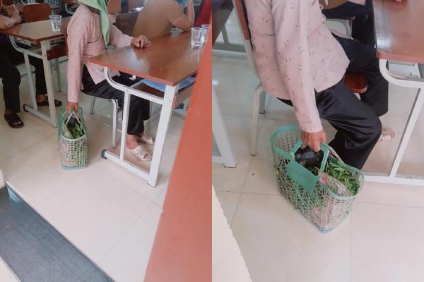 Hình ảnh bà mang theo giỏ đi chợ đến họp phụ huynh khiến ký ức tuổi thơ của bao người ùa về