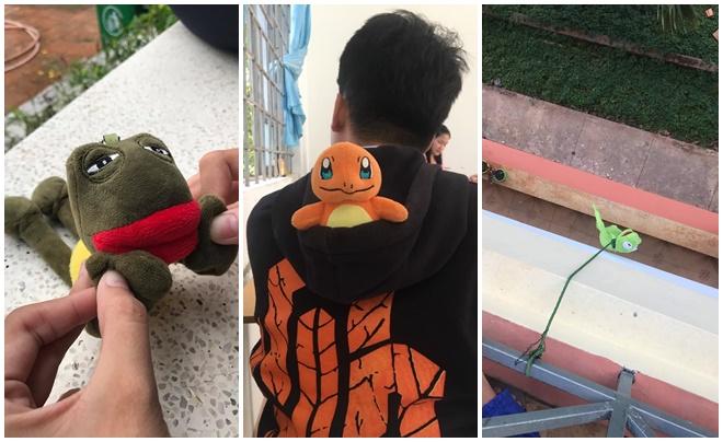 """Sau chú ếch Kermit, học trò khắp nơi """"đu trend"""" đưa thú cưng nhồi bông đi học, bày đủ trò nghịch ngợm với """"người bạn nhỏ"""""""