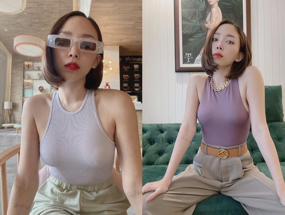 Chiếc áo này có gì đặc biệt mà Tóc Tiên có đến 3 màu khác nhau?