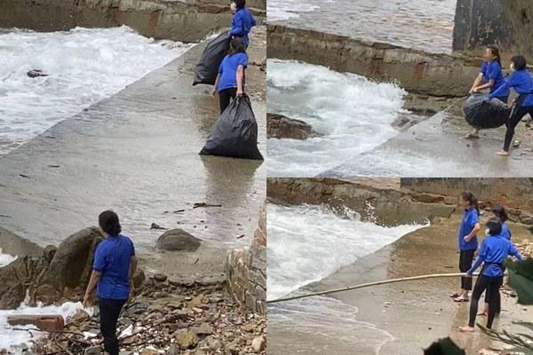 Nhân viên quán cà phê ở Vũng Tàu vứt rác ra biển: Không phải rác của quán, rác từ biển thì trả lại biển?