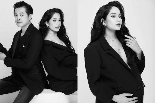 """Tung bộ ảnh đen trắng cực tình, vợ chồng Dương Khắc Linh khiến dân tình ghen tị """"đỏ mắt"""", mãn nhãn vì nhan sắc của mẹ bầu Sara Lưu"""