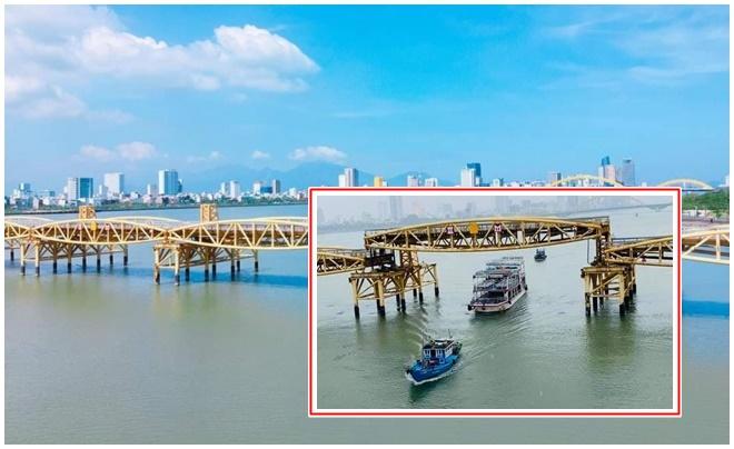 Nhờ bão số 5, nhiều người sống ở Đà Nẵng hàng chục năm nay mới được chứng kiến cầu Nguyễn Văn Trỗi nâng nhịp