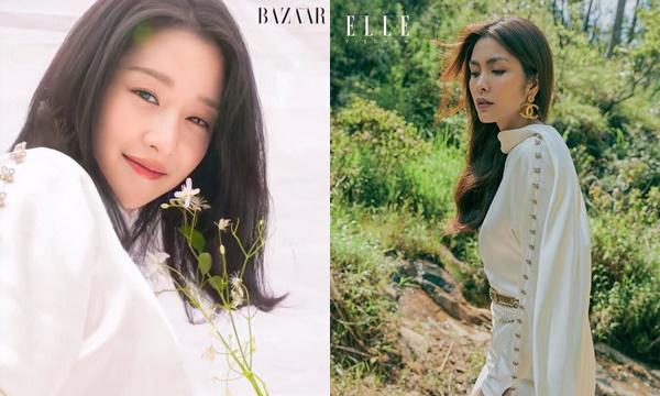 """Đọ khung hình 2 tạp chí thời trang lớn, Tăng Thanh Hà bất ngờ đánh bại """"biểu tượng thời trang 2020"""" Seo Ye Ji"""