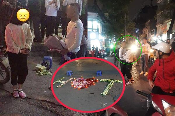 """Kỳ công xếp nến và hoa giữa đường để tỏ tình nhưng vẫn bị từ chối, chàng trai liền ăn vạ: """"Em nghĩ em trốn được anh à"""""""