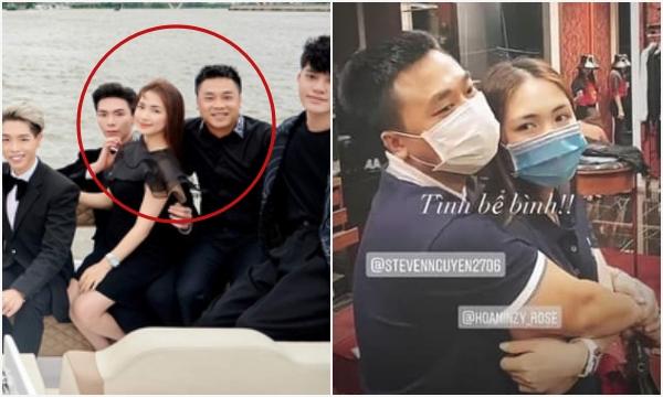 """Tự dưng bị đồn chia tay, Hoà Minzy - Minh Hải chứng minh tình cảm vẫn """"ổn"""" bằng cách ôm nhau giữa cửa hàng đồ hiệu"""