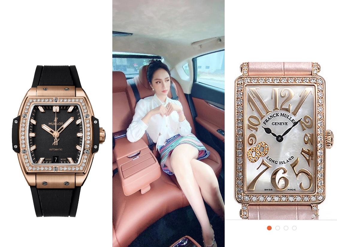 Hôm trước vừa mua xe hơn 8 tỷ, hôm sau đã sắm ngay 3 chiếc đồng hồ hơn 2 tỷ, đẳng cấp này gọi tên Hương Giang