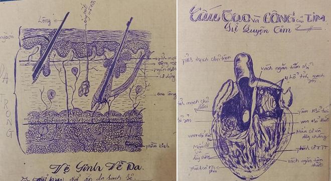 Khoe hình vẽ môn Sinh học 35 năm trước của mẹ, học sinh gây trầm trồ cực độ: Mẹ giờ làm bác sĩ hay họa sĩ?