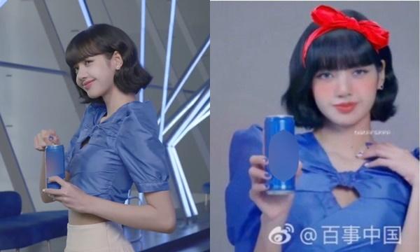 """Lisa hóa """"công chúa Disney"""" trong quảng cáo mới, netizen không quên photoshop thêm chiếc bờm đỏ"""