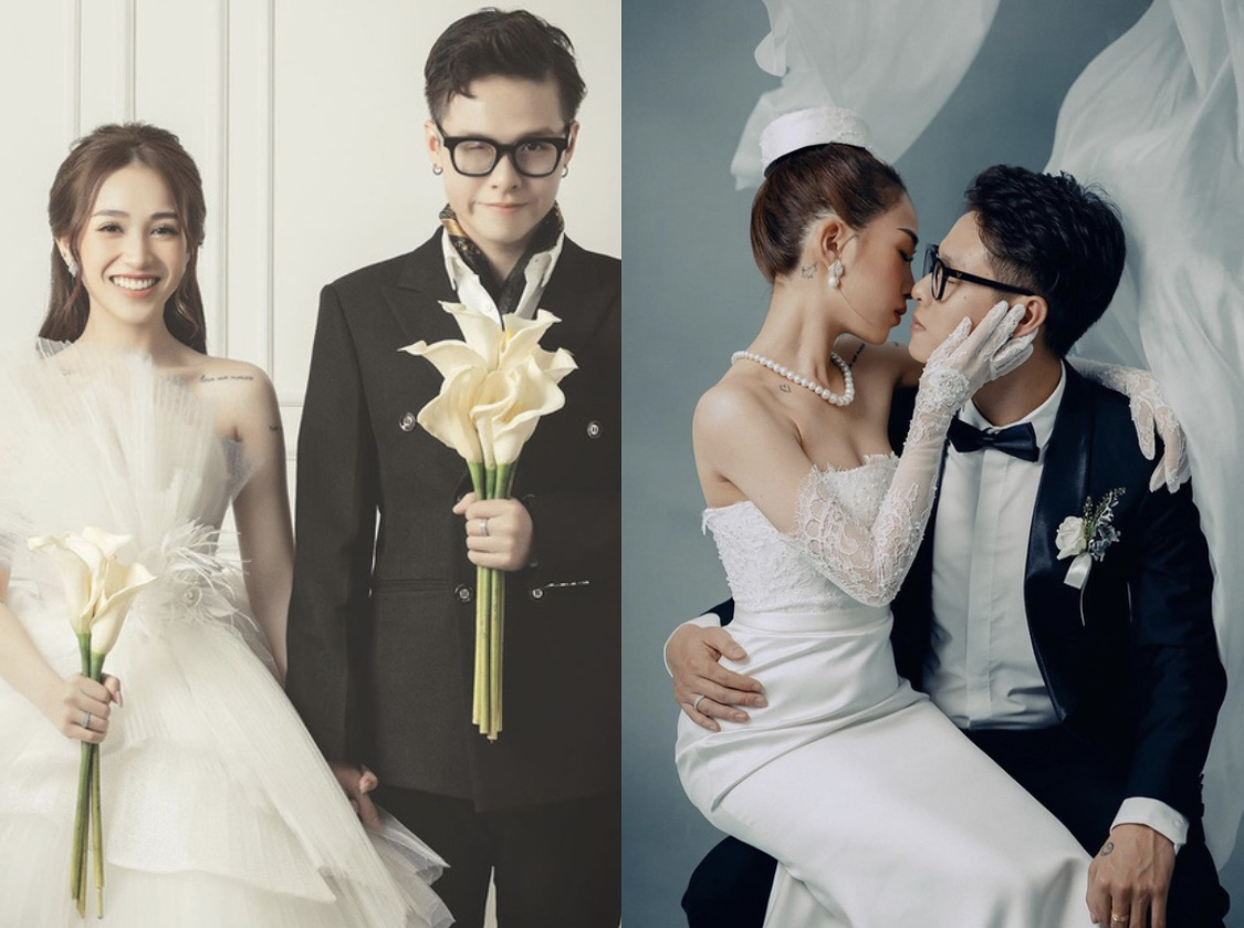 Thay một lúc 3 bộ váy cưới đắt tiền, đẳng cấp này chỉ có thể là con gái đại gia Minh Nhựa