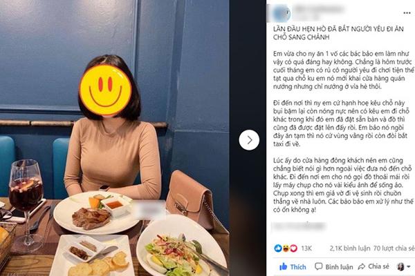 """Hí hửng chê bạn gái mới quen tính tình """"tiểu thư"""" đòi ăn uống sang chảnh, chàng trai không ngờ bị """"nữ chính"""" tố ngược"""