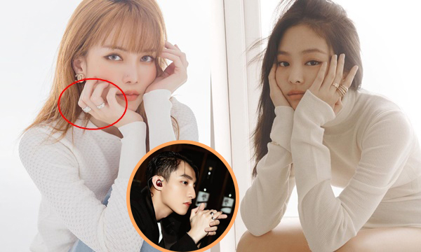 """Thiều Bảo Trang bị cho là """"sao chép"""" style chụp hình của Jennie nhưng ai cũng chỉ tập trung vào cặp nhẫn đôi với Sơn Tùng"""