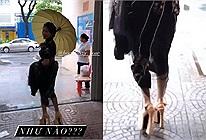 Mang cà kheo đi sự kiện, Hòa Minzy vẫn tự tin thả dáng catwalk, nhìn như sắp