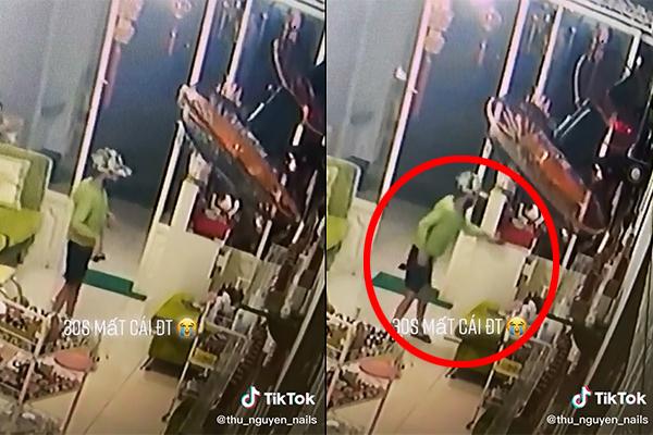 """Lại thêm một clip """"siêu trộm"""" nghi là cậu bé trong vụ hai mẹ con phối hợp lấy cắp tiền của bà cụ bán hàng"""